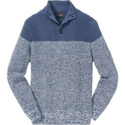 Sweter Regular Fit bonprix indygo-biały. Niebieskie golfy męskie bonprix, l. Za 89,99 zł.