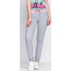 Spodnie damskie: Szare Spodnie Dresowe Brownie