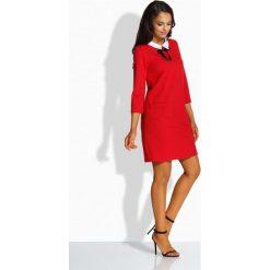 Klasyczna sukienka z kołnierzykiem czerwony LYLA. Brązowe długie sukienki marki Lemoniade, z klasycznym kołnierzykiem. Za 109,00 zł.