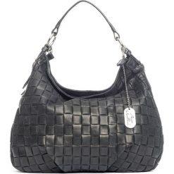 Torebki klasyczne damskie: Skórzana torebka w kolorze czarnym – 34 x 30 x 11 cm