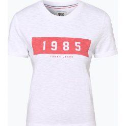 Tommy Jeans - T-shirt damski, czarny. Szare t-shirty damskie marki Tommy Jeans, l, z dzianiny, z podwyższonym stanem, dopasowane. Za 129,95 zł.
