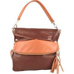 Torebki klasyczne damskie: Skórzana torebka w kolorze brązowym – 35 x 32 x 10 cm
