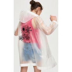 Płaszcze damskie pastelowe: Płaszcz przeciwdeszczowy - Biały