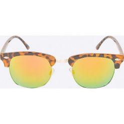 Jack & Jones - Okulary Marco. Brązowe okulary przeciwsłoneczne męskie aviatory Jack & Jones, z materiału. W wyprzedaży za 39,90 zł.