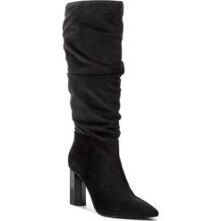 Kozaki EVA MINGE - Galdacano 4H 18BL1372560EF 801. Czarne buty zimowe damskie Eva Minge, z materiału, na obcasie. W wyprzedaży za 549,00 zł.