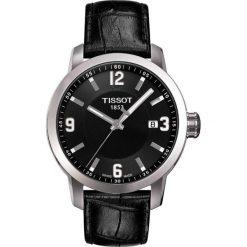 PROMOCJA ZEGAREK TISSOT T-SPORT T055.410.16.057.00. Czarne zegarki męskie TISSOT, ze stali. W wyprzedaży za 1205,60 zł.