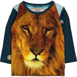 """Koszulka """"Little Lion Man"""" w kolorze brązowo-granatowym. Brązowe t-shirty chłopięce z długim rękawem marki 4FunkyFlavours Kids, z nadrukiem. W wyprzedaży za 92,95 zł."""
