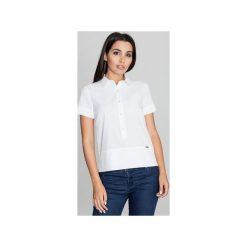 Bluzki damskie: Bluzka M548 Biały