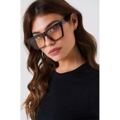 Okulary przeciwsłoneczne damskie: NA-KD Accessories Okulary przeciwsłoneczne ostre kocie oczy – Brown