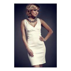 Sukienki balowe: Sukienka Monique Mod. Nr 51 Ecru