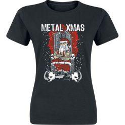Metal XMas Koszulka damska czarny. Czarne bluzki asymetryczne Metal XMas, l. Za 62,90 zł.