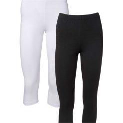 Spodnie damskie: Legginsy rybaczki (2 pary) bonprix biały + czarny