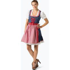 Alpenfeeling - Ludowa sukienka damska – Eibsee, czerwony. Czerwone sukienki balowe Alpenfeeling, z dekoltem karo. Za 579,95 zł.