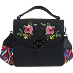 """Torebki klasyczne damskie: Skórzana torebka """"Heather"""" w kolorze czarnym – 22 x 21 x 7 cm"""