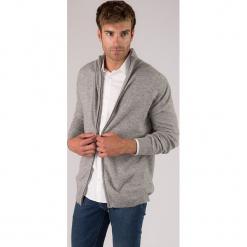 Kaszmirowy kardigan w kolorze szarym. Niebieskie swetry rozpinane męskie marki GALVANNI, l, z okrągłym kołnierzem. W wyprzedaży za 391,95 zł.