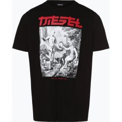 Diesel - T-shirt męski, czarny. Niebieskie t-shirty męskie z nadrukiem marki Diesel. Za 229,95 zł.