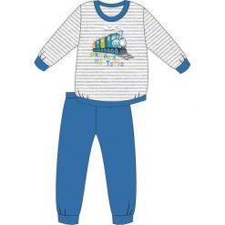 Bielizna chłopięca: Piżama Kids Boy 593/74 Train niebiesko-biała 92