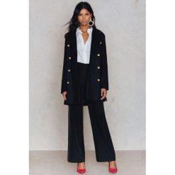 Płaszcze damskie pastelowe: Rut&Circle Płaszcz zapinany na guziki Nor - Black