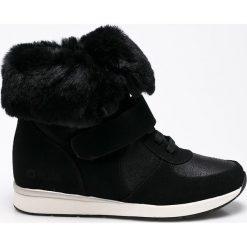 Big Star - Botki. Szare buty zimowe damskie BIG STAR, z materiału, retro, na koturnie. W wyprzedaży za 119,90 zł.