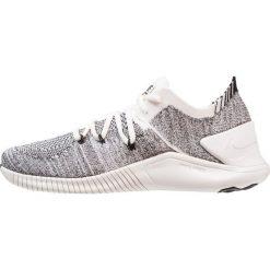 Nike Performance FREE FLYKNIT 3 Obuwie treningowe white/black. Białe buty sportowe damskie Nike Performance, z materiału. Za 509,00 zł.