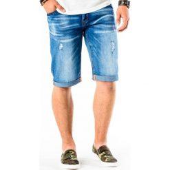 KRÓTKIE SPODENKI MĘSKIE JEANSOWE W009 - NIEBIESKIE. Niebieskie spodenki jeansowe męskie marki ARTENGO, l. Za 49,00 zł.