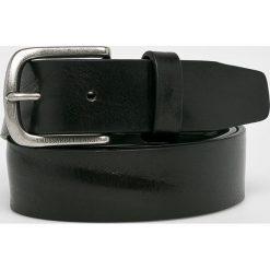 Trussardi Jeans - Pasek skórzany. Czarne paski męskie Trussardi Jeans, w paski, z jeansu. W wyprzedaży za 239,90 zł.