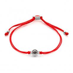 Bransoletka w kolorze czerwonym z kryształem Swarovski. Czerwone bransoletki damskie z cyrkoniami Ania Kruk, srebrne. W wyprzedaży za 57,95 zł.