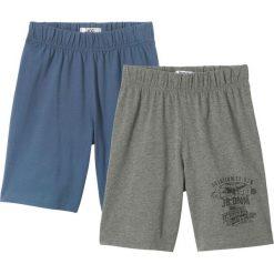 Odzież chłopięca: Krótkie spodenki shirtowe (2 pary) bonprix indygo-szary melanż