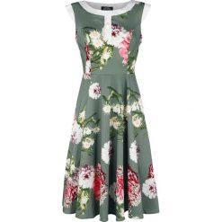 H&R London Mix Floral Hepburn Dress Sukienka wielokolorowy. Szare sukienki na komunię H&R London, s, w kwiaty. Za 121,90 zł.