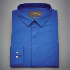 Koszula slim fit - Niebieski. Niebieskie koszule męskie slim marki Reserved, m. Za 139,99 zł.