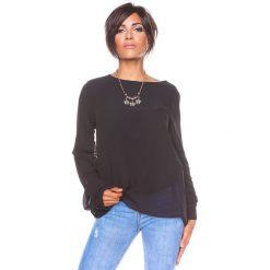 """Bluzki damskie: Koszulka """"Estelle"""" w kolorze czarnym"""