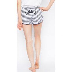 Etam - Szorty piżamowe Selby Smiley World. Niebieskie piżamy damskie marki Etam, l, z bawełny. W wyprzedaży za 34,90 zł.