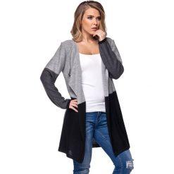 Odzież damska: Sweter w kolorze jasnoszaro-grafitowo-czarnym