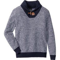 Sweter z szalowym kołnierzem Regular Fit bonprix ciemnoniebieski. Niebieskie swetry klasyczne męskie marki bonprix, l, z dzianiny. Za 79,99 zł.
