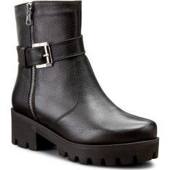 Botki OLEKSY - 238/295 Czarny. Szare buty zimowe damskie marki Oleksy, ze skóry. W wyprzedaży za 259,00 zł.