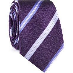 Krawat KWFR001926. Fioletowe krawaty męskie Giacomo Conti, w paski, z mikrofibry. Za 69,00 zł.