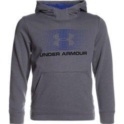 Under Armour FRENCH TERRY HOODY Bluza z kapturem graphite. Szare bluzy chłopięce rozpinane marki Under Armour, z bawełny, z kapturem. W wyprzedaży za 170,10 zł.