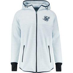 Bejsbolówki męskie: SIKSILK APEX ZIP THROUGH TRACK TOP Bluza rozpinana snow white
