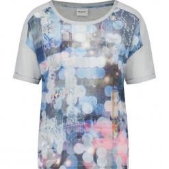 Koszulka w kolorze szarym ze wzorem. Szare t-shirty damskie marki Taifun, z okrągłym kołnierzem. W wyprzedaży za 86,95 zł.