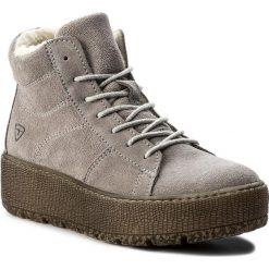 Botki TAMARIS - 1-26256-29 Light Grey 254. Szare buty zimowe damskie marki Tamaris, z materiału, na sznurówki. W wyprzedaży za 229,00 zł.