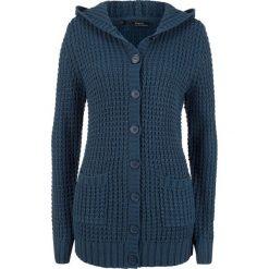 Sweter rozpinany z kapturem bonprix ciemnoniebieski. Szare kardigany damskie marki Mohito, l. Za 99,99 zł.