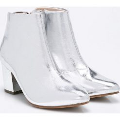 Vero Moda - Botki. Szare buty zimowe damskie Vero Moda, z materiału. W wyprzedaży za 139,90 zł.
