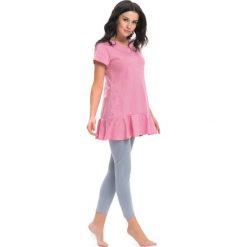 Piżama w kolorze różowym - bluzka, legginsy. Czerwone legginsy Doctor Nap, l. W wyprzedaży za 69,95 zł.