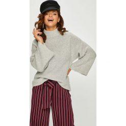 Answear - Sweter Watch Me. Szare swetry klasyczne damskie ANSWEAR, l, z dzianiny. W wyprzedaży za 89,90 zł.