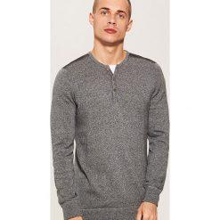 Sweter z guzikami - Szary. Szare swetry klasyczne męskie marki House, l. Za 89,99 zł.