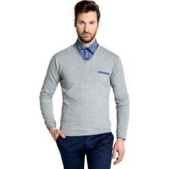Sweter DARIO 16-01 JK. Niebieskie swetry klasyczne męskie marki Giacomo Conti, m, z tkaniny, klasyczne. Za 169,00 zł.