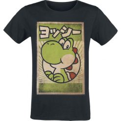 T-shirty męskie: Super Mario Propaganda Yoshi T-Shirt czarny