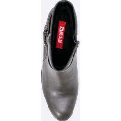 Big Star - Botki. Szare buty zimowe damskie marki BIG STAR, z materiału. W wyprzedaży za 89,90 zł.