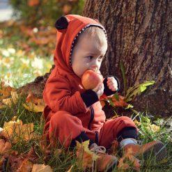 Kombinezony niemowlęce: Kombinezon misiek