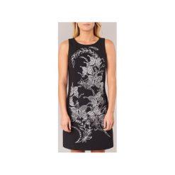 Sukienki krótkie Desigual  MARTE. Sukienki małe czarne marki Desigual, l, z tkaniny, casualowe, z długim rękawem. Za 370,30 zł.